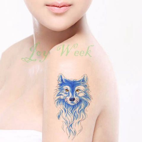 Waterproof Temporary Tattoo Sticker on body arm sexy wolf tattoo animal tatto stickers flash tatoo fake tattoos for women girl