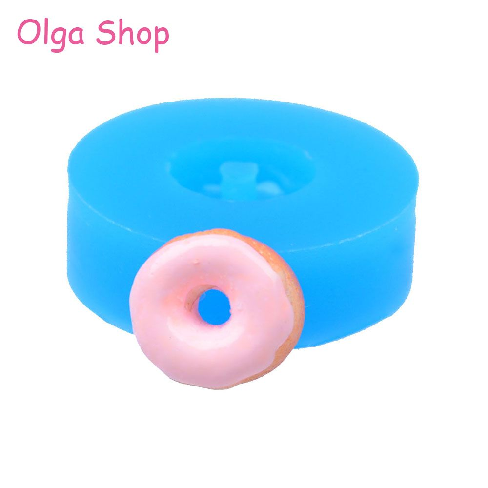 TYL010 13.4mm Mini Doughnut / Donut Silicone Mold - Cake Decorating Tools Candy Fondant Resin Polymer Clay Pendant Jewelry Mold
