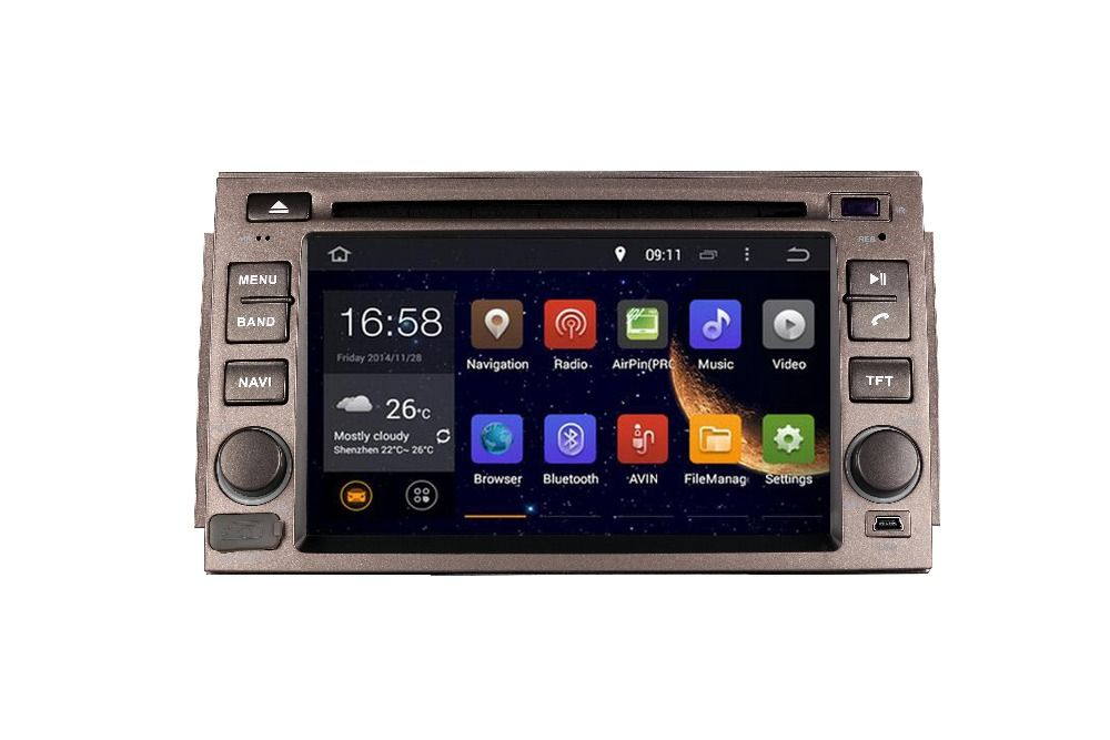 2DIN Android OCTA/Quad Core Fit HYUNDAI AZERA The Luxury Grandeur 2005- 2011 Car DVD Player Multimedia GPS DVD NAVIGATION NAV