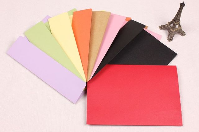 (230*162mm)20pcs/lot  Color western-style envelopes  A5 blank bills receive bag  Kraft envelope  paper  Enveloppe  6583
