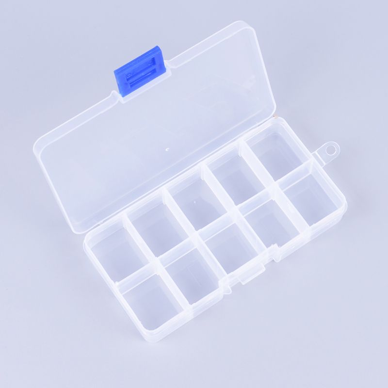 new plastic storage box pill jewelry object storage tool multifunctional 10 case 15 grid storage box small organization