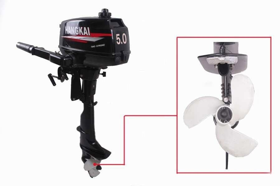 Wholesale Super Quality HANGKAI 5HP Marine Outboard Motor Outboard Boat Motor Cheaper than Yamaha Outboards Motor Water Cooled