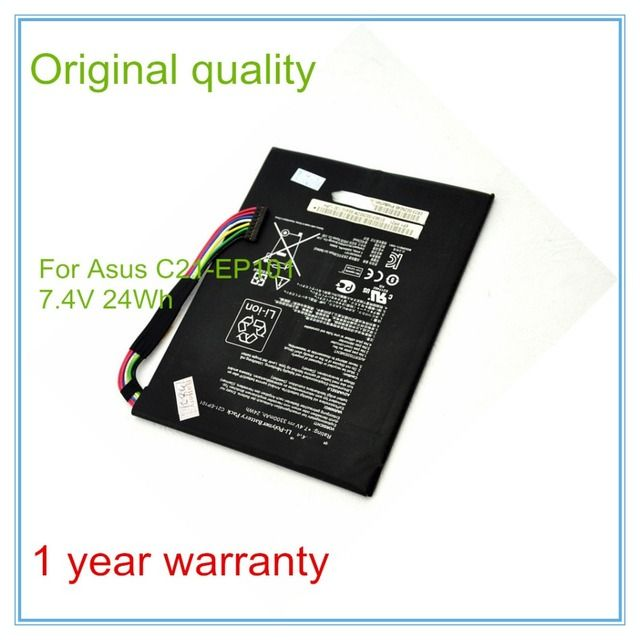 Original  new Laptop Batteries for C21-EP101 TR101 TF101 Batteries 7.4v 3300mAh 24wh