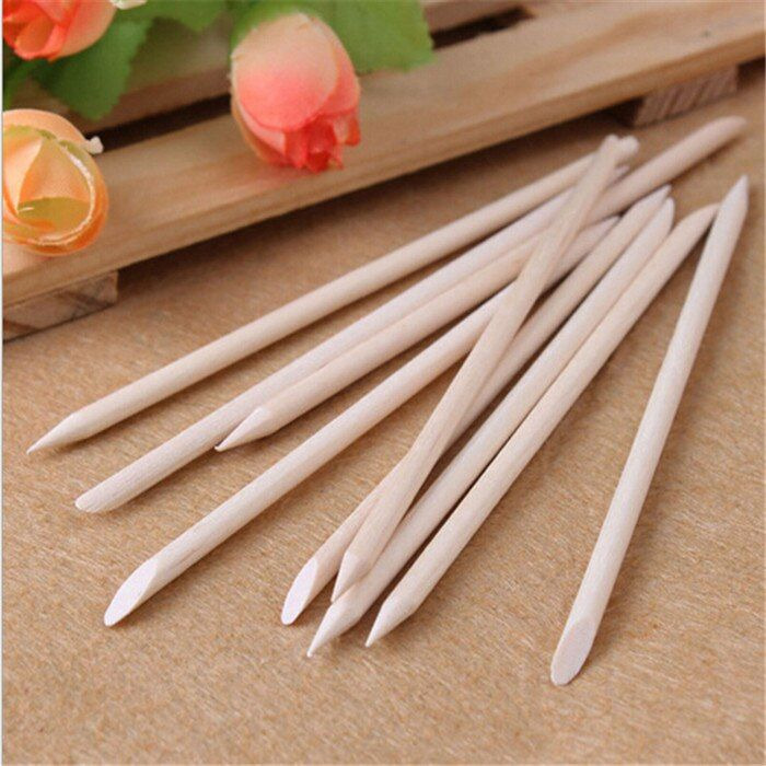 20pcs Nail Art Orange Wood Stick Cuticle Pusher Remover for nail art care Manicures nail tools