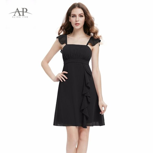 Summer Dress Women's Chiffon Backless Black Casual White Grey Girl Alisa Pan HE03337 Falbala Ruffles Brand Style Party Dresses