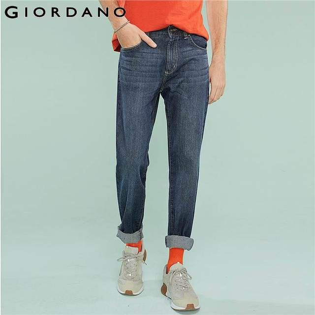 Giordano Men Jeans Slim Fit Denim Pants Man Trousers Denims Brand Vetement Masculina Famous Pantalones Vestidos Homme