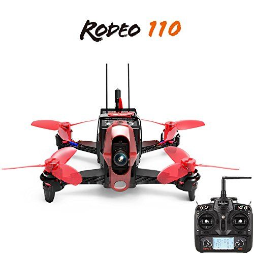 New Walkera Rodeo 110 110mm with DEVO 7 Remote Controller 600TVL Camera Battery Charger RTF RC Racing Drone Quadcopter  F19843