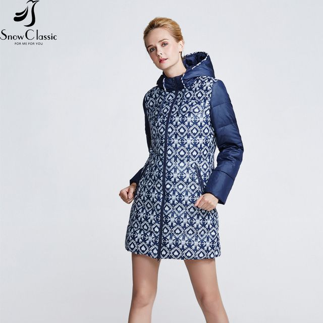 2018 spring multi-pattern printing long coat windbreaker zipper warm windproof breathable large size with a hat