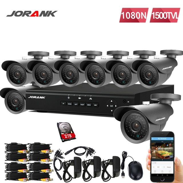 720P HD 1500TVL  IR Outdoor Weatherproof  Security Camera System 1080P HDMI CCTV VIDEO MONITORING 8-CHANNEL DVR 1TB HDD AHD Kit