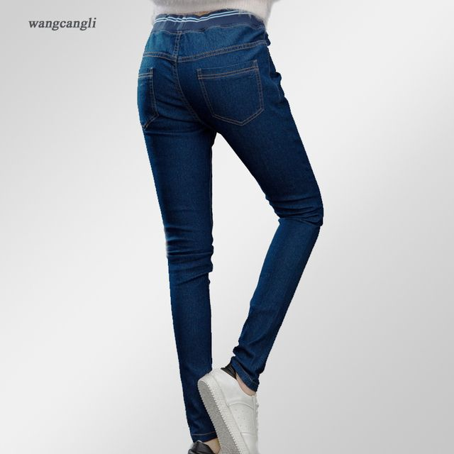 women jeans woman 2XL large size jeans 3XL slim stretch cowboy straight jeans elastic Low waist jeans spring summer hot selling