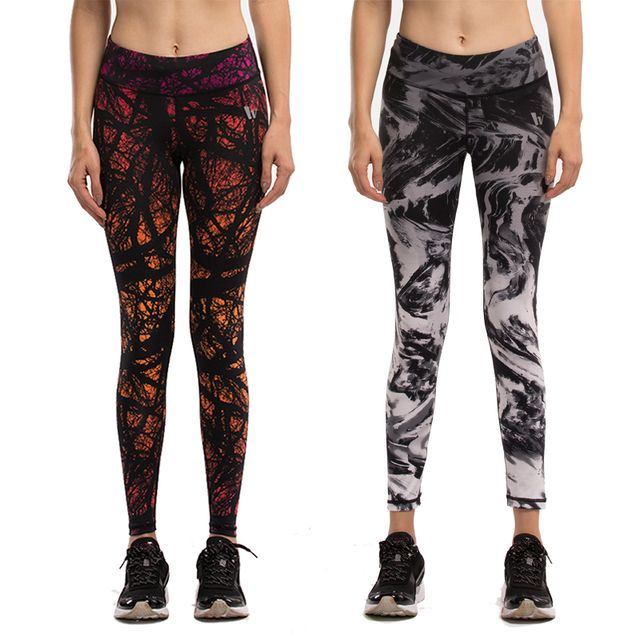 Women Compression Pants Elastic Wicking Exercise Female Fitness Exercise Trousers Slim pants