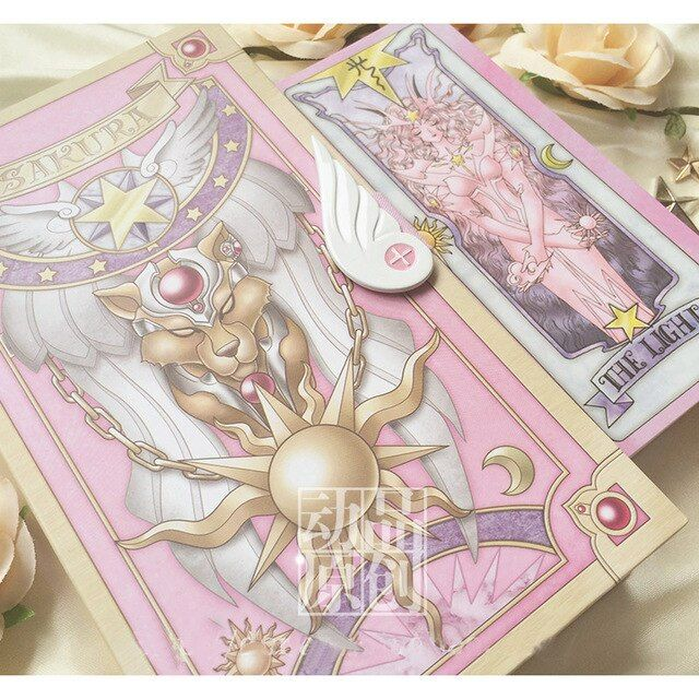 Japan Anime Cardcaptor Sakura 52 Piece Clow Cards + Book SET + The Nothing Card Cardcaptor Cosplay Accessories props