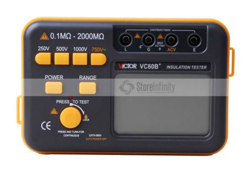 VC60B+ Digital Insulation Tester Megger MegOhm Meter