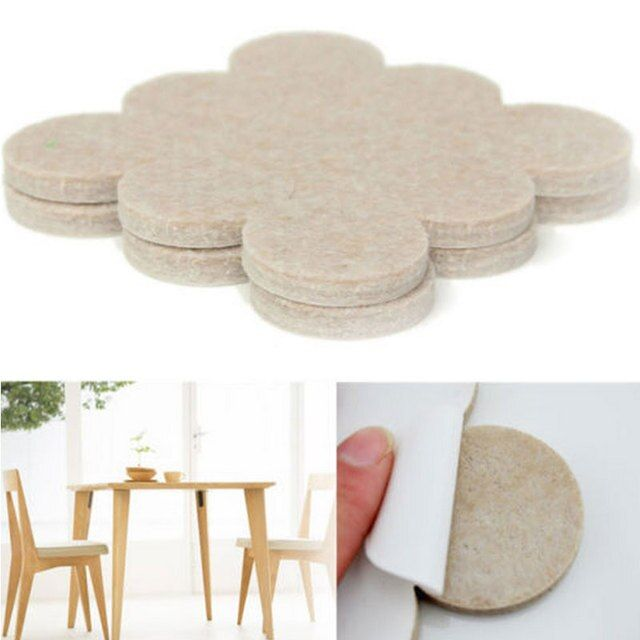 Top Quality  Self Adhesive Floor Furniture Wall Chair Scratch Protector Felt Round Chair Pads MS253