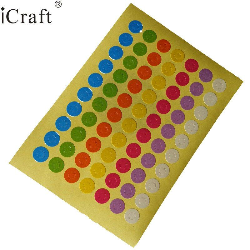 1400pcs Reinforcement Hole Stickers / Colorful Ring Label Stickers for Party Favor Gift Tag Free Shipping