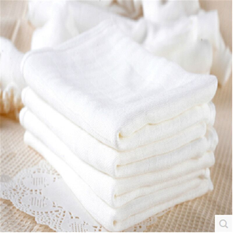 10 pcs/pack baby bamboo fiber gauze nappy white newborn baby diapers cloth with soft 70*50cm