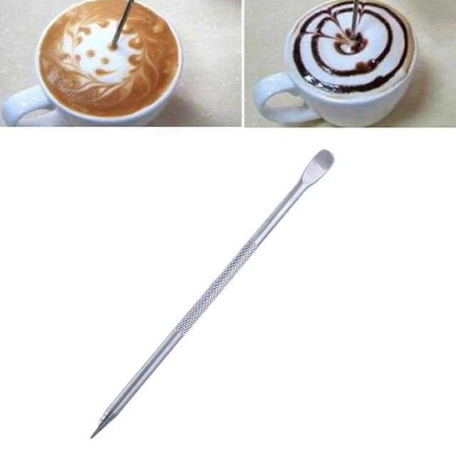 Stainless Steel Barista Cappuccino Latte Espresso Coffee Decorating Pen Art Household Kitchen Cafe New Useful