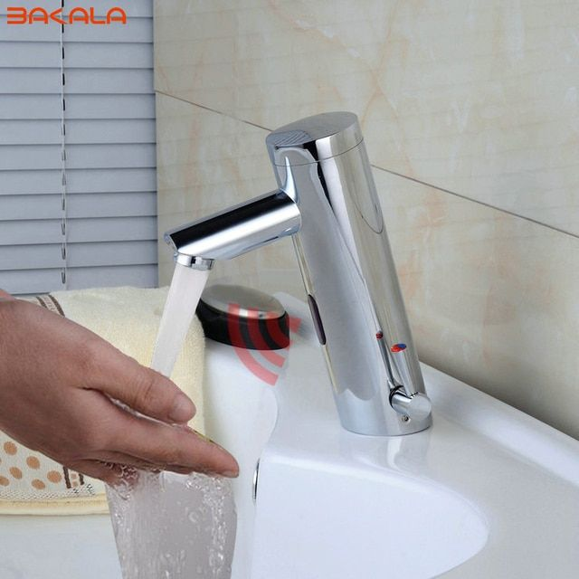 BAKALA NEW Hot & Cold Mixer Automatic  sensor tap Hand Touch Free Sensor tap Faucet & Sink Tap banheiro F-2029