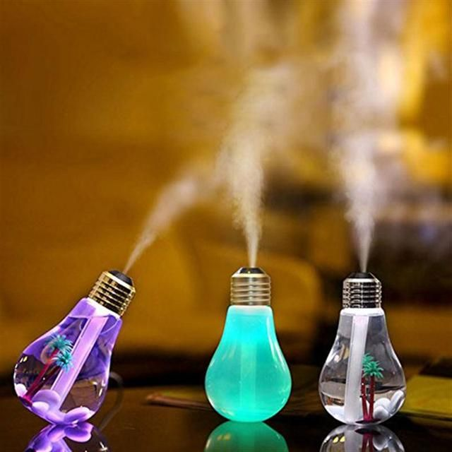7 Color USB LED Night Light Home Office Mini Aroma Diffuser LED Night Light air fresher Bottle bulb for Car and Home