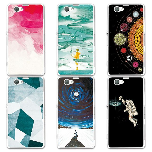 "Couple Phone Case For Sony Z1 Mini 4.3"", 14 Patterns Universe Planets Design Coque For Sony Xperia Z1 Compact Z1 Mini D5503"