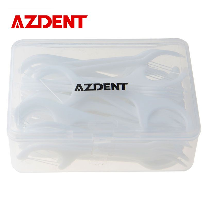 AZDENT Tooth Cleaner 50 PCS Dental Floss Oral Care Teeth Stick Flossers Pick ToothPicks With Floss Dental Flosser Oral Hygiene