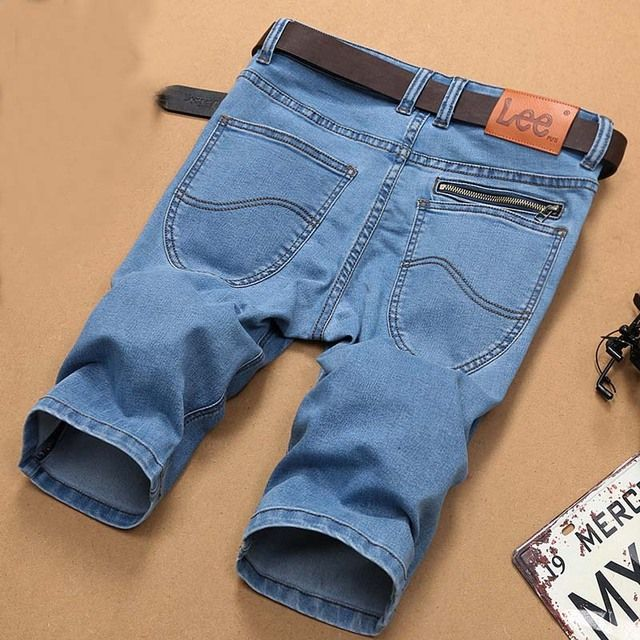 2016 Summer Plus Size Men Jeans Male Famous Brand Denim Shorts Knee Length Pants Half Cropped Capris Mens Short Pants Trouser
