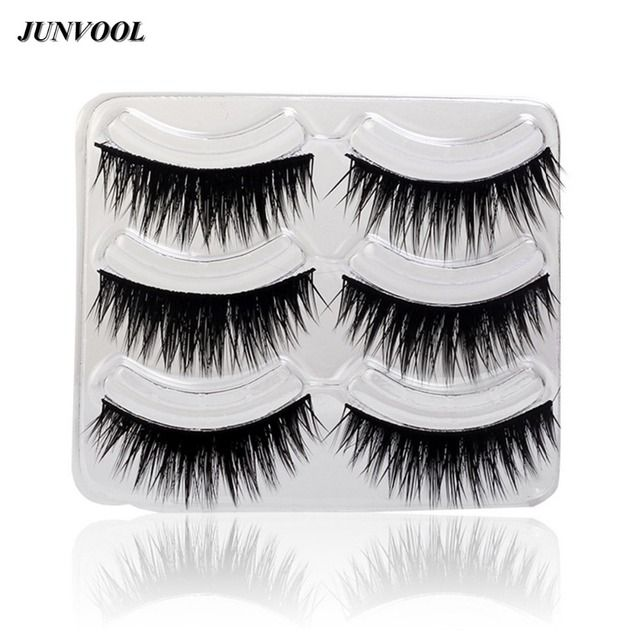 3 Pairs New False Eyelashes Messy Cross Thick Natural Fake Eye Lashes Professional Makeup Tips Big Eye Long False Eye Lash