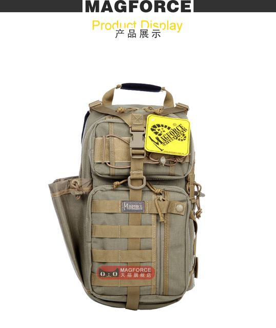 Taiwan MagForce  archers single shoulder backpack 0431 male  fans package