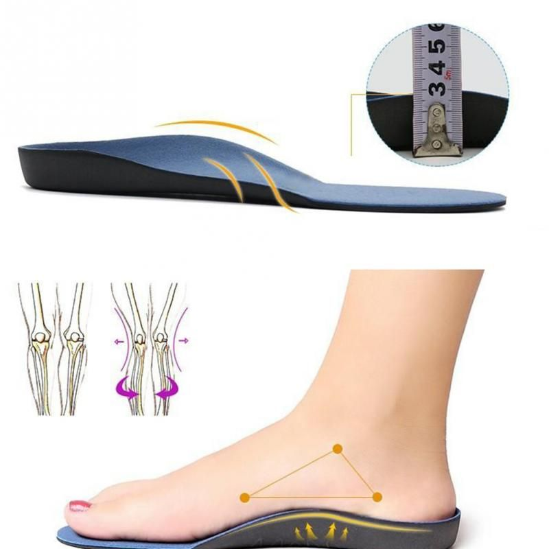NEW 2019 Shoes Arch Support Cushion Feet Care Insert Orthopedic Insole for Flat Foot Health Sole Pad *35