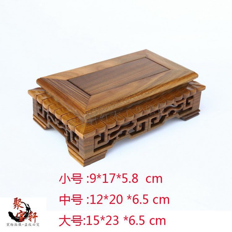 Base on the green sandalwood carvings handicraft furnishing articles kettle pot of Buddha aquarium household act the role ofing