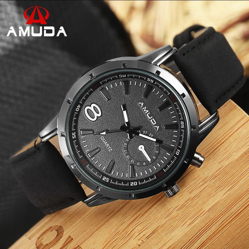Fashion Brand Mens Watches Top Brand Luxury Quartz Male Clock Casual Leather Strap Watch Military Wristwatch Relogio Male