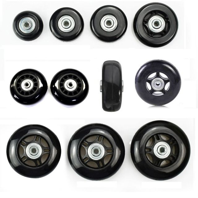 2 SET Replacement Luggage Wheels for 360 Spinner Luggage