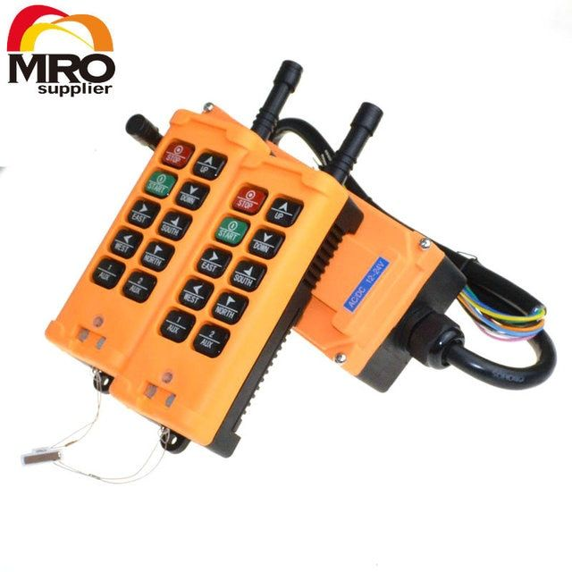 2 Transmitters 10 Channels 1 Speed 2 Transmitters Hoist Crane Truck Remote Control System g  controller remote XH00029