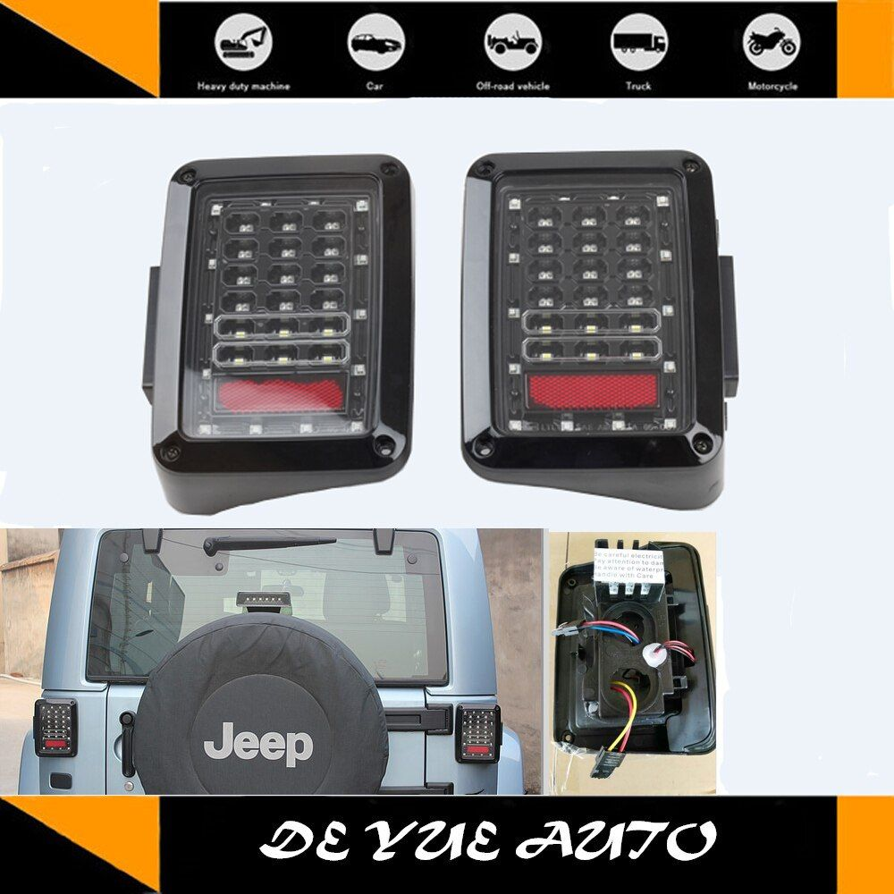 for Jeep Wrangler LED tail light multifunctional light use for JK 2 door CJ wrangler TJ 97-06 unlimited JK 4 door 07-15