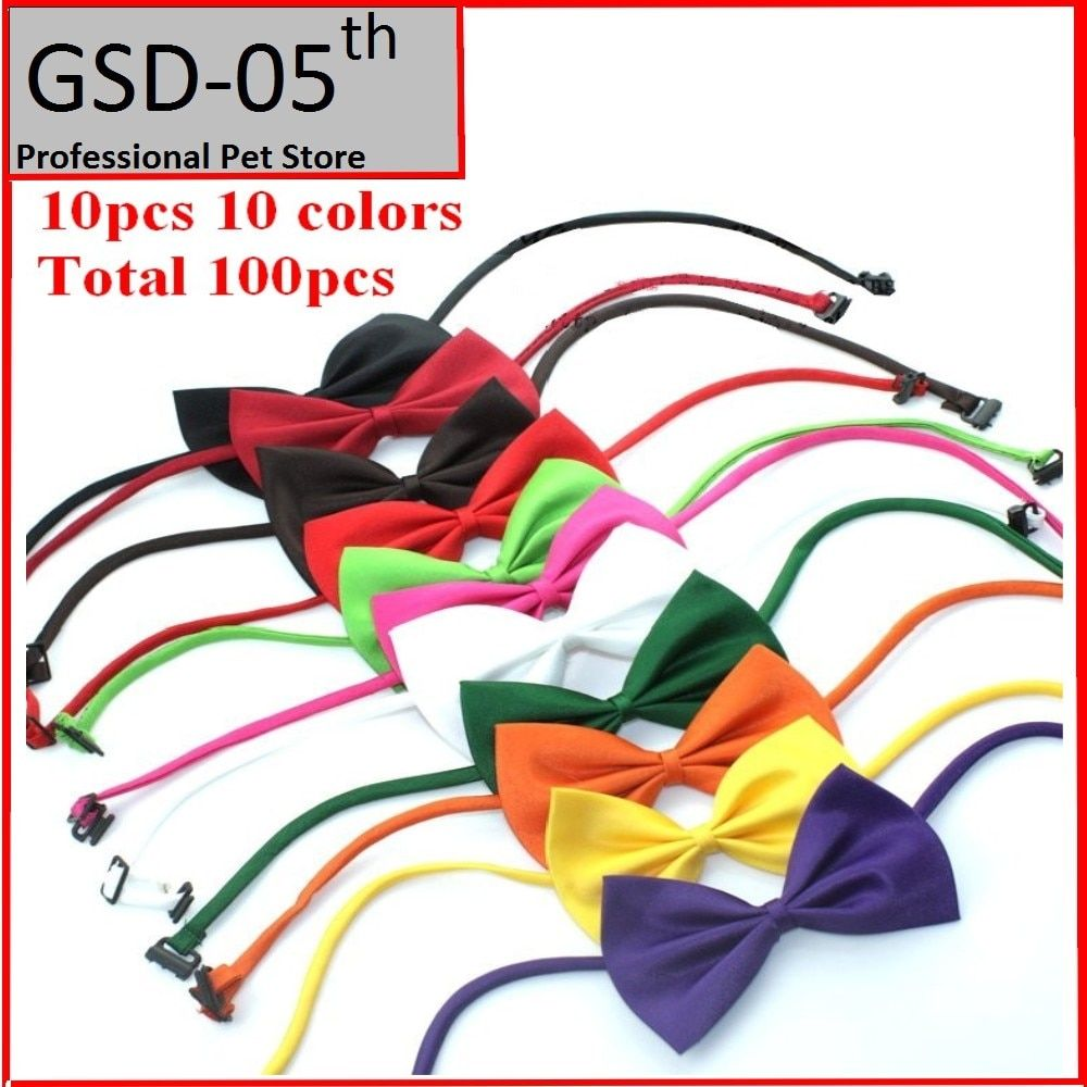 100pcs Adjustable Pet Dog Bow Tie Cat Necktie Collar Dog Neck Tie Dog Bow Tie Cat Tie Pet Grooming Supplies Pet Headdress Flower