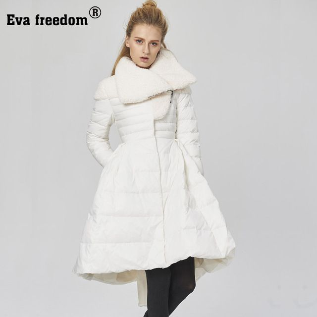 Eva freedom Winter Jacket Women 2017 Patchwork 91%-95% White Duck Down Parkas Slim Warm High Quality Down Coats manteau femme