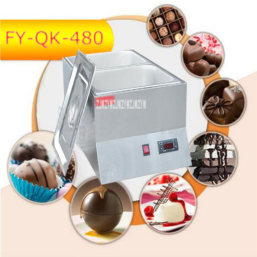 1PC FY-QK-480  Hot Sale Double-cylinder Electric Chocolate Fountain Fondue Hot Chocolate Melt Pot melter Machine