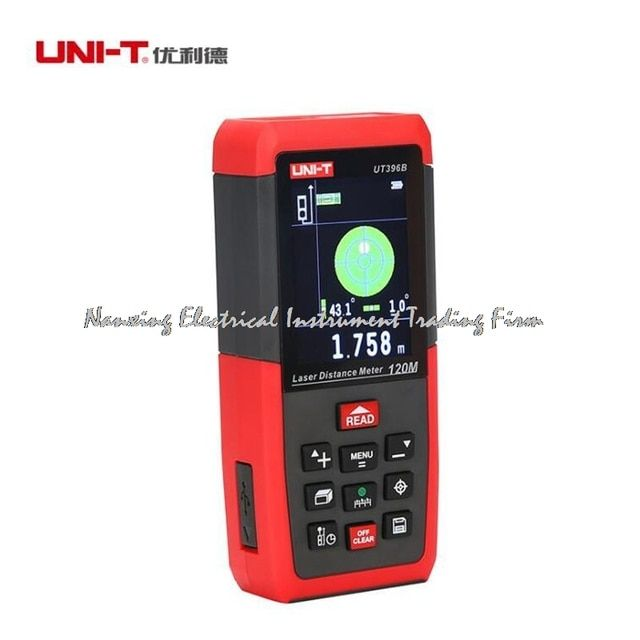 UNI-T UT396B Professional Laser Distance Meters Lofting Test Levelling Instrument Area/Volume Data Storage Max 120m 2MP Camera