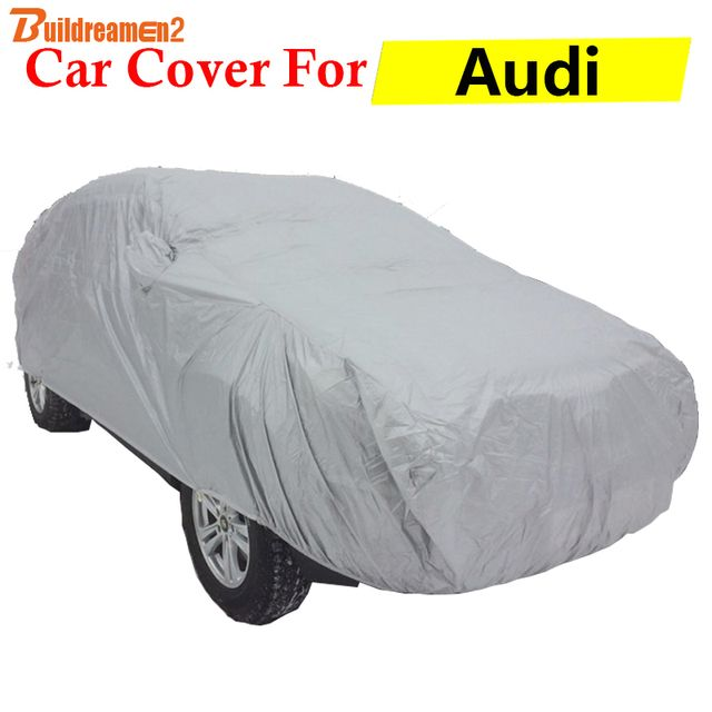 Buildreamen2 Car Cover Anti-UV Sun Snow Rain Protection Scratch Resistant Outdoor Auto Cover For Audi RS3 RS4 RS5 RS6 A7 A8 A8L