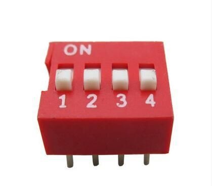 100pcs 4 Position 4P DIP Switch 2.54mm Pitch 2 Row 8 Pin Slide DIP Switch in stock Fast Shipping