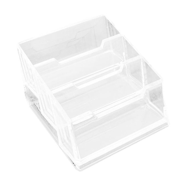 Affordable Plastic 3-Tier Design Clear Business Card Stand Holder