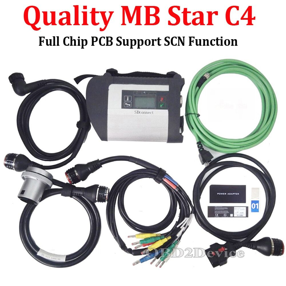 Quality A+++ MB STAR C4 Full Chip SD Connect C4 Star Diagnosis Wifi Car&Truck Diagnostic Tool without Software