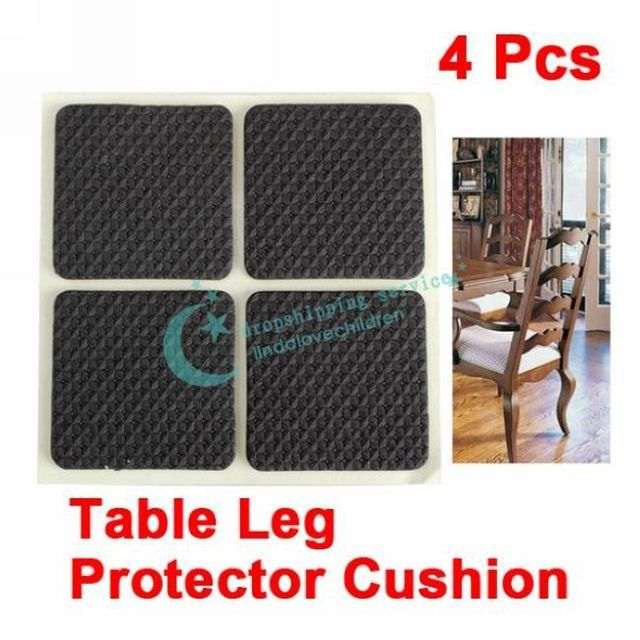 4 Pcs Square Chair Table Desk Wardrobe Leg Foot Cushion Protector Sticky Mat Drop shipping/2016 New