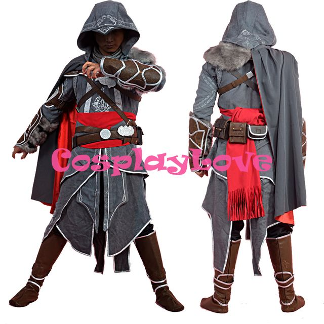 New Custom Made High Quality Assassins Creed Cosplay Adult Assassin's Creed Revelations Ezio Auditore da Firenze Cosplay Costume