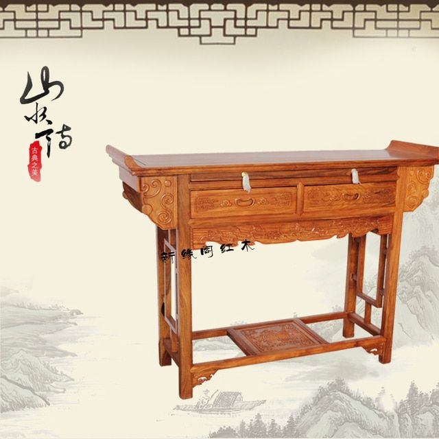 Dongyang wood mahogany antique furniture, African rosewood case of Taiwan entrance station abutment altar altar painting station