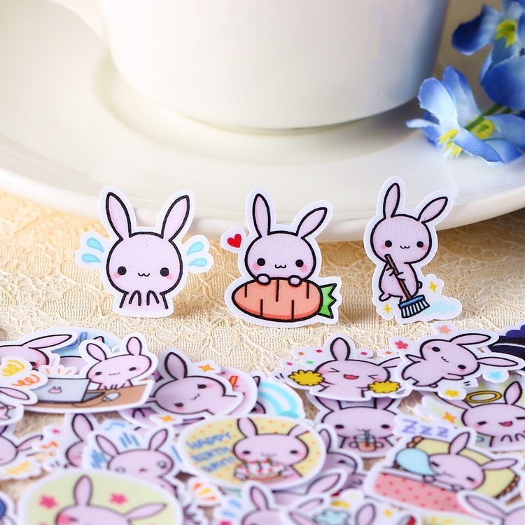 40pcs Self-made Rabbit Baby Cute Scrapbooking Stickers DIY Craft DIY Sticker Pakc Photo Albums Deco Diary Deco