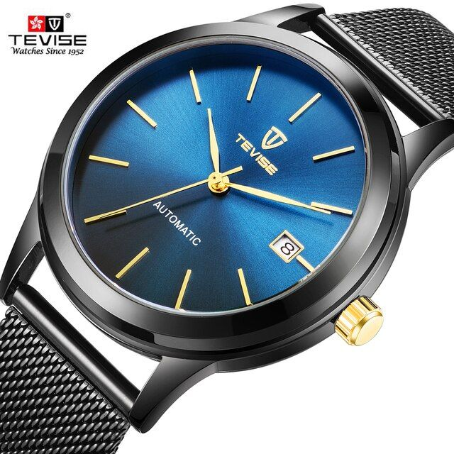 TEVISE Automatic Mechanical Men's Watches Men Sport Watch Business Casual WristWatch Male Clock Automatico Relogio Masculino