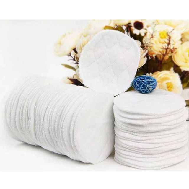 Best Price! 10pcs/lot Reusable Nursing Breast Pads Washable Soft Absorbent Feeding Breastfeeding Pad