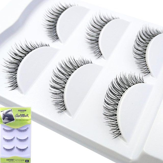 3 Pairs Eyelashes Women Lady Makeup Black Winged Super Soft Handmade 3d False Eyelashes Lashes for Eyelash Extension 806-810