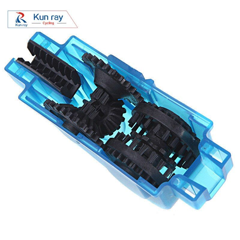 Portable Bicycle Chain Cleaner,Bike Clean Machine Brushes Scrubber Wash Tool, Mountain Cycling Cleaning Kit Quick Washing